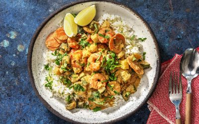 Prawn Thai-Style Green Curry with Rice